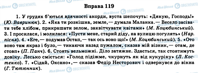 ГДЗ Українська мова 11 клас сторінка 119