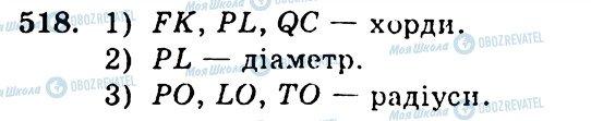 ГДЗ Геометрия 7 класс страница 518