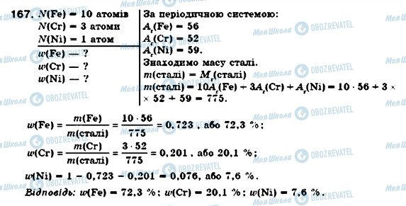 ГДЗ Хімія 7 клас сторінка 167