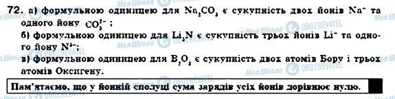 ГДЗ Хімія 7 клас сторінка 72