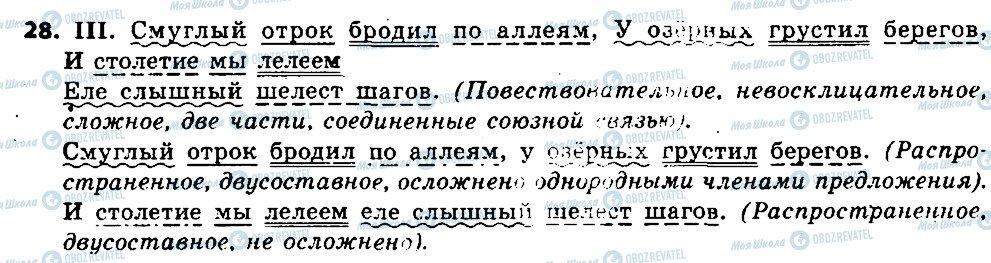 ГДЗ Російська мова 6 клас сторінка 28