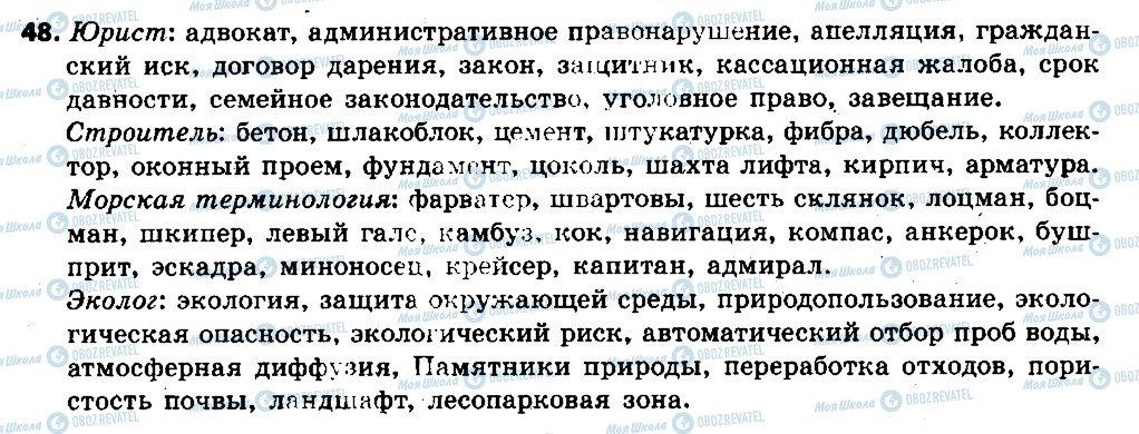 ГДЗ Русский язык 6 класс страница 48