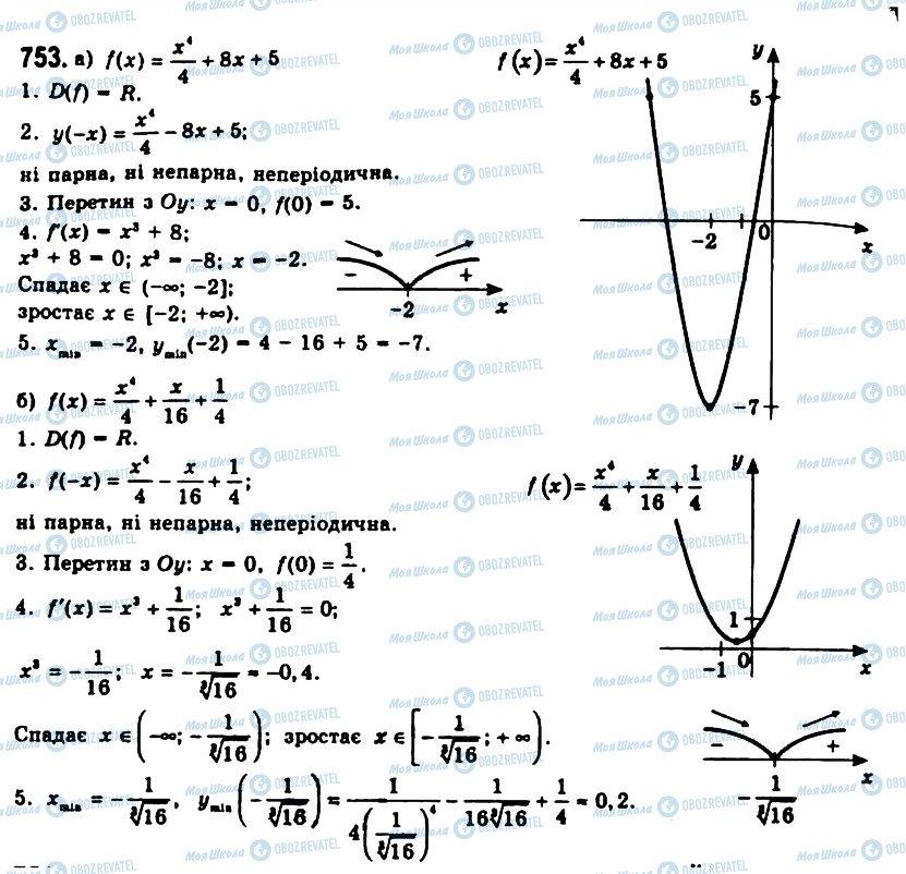 ГДЗ Алгебра 11 клас сторінка 753
