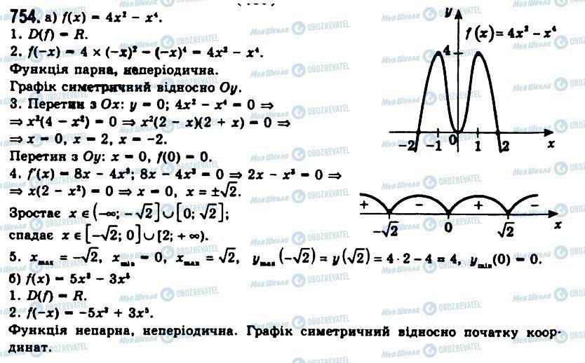 ГДЗ Алгебра 11 клас сторінка 754