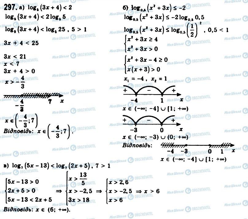 ГДЗ Алгебра 11 класс страница 297