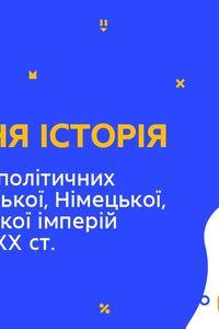 Онлайн урок 9 класс Всемирная история. Украина в планах России, Германии, Австро-Венгерской империй на рубеже ХIХ-ХХ вв (Нед.7:ЧТ)