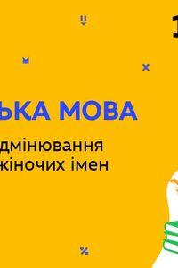 Онлайн урок 10 класс Укр мова. Создание и склонение мужских и женских отчеств (Нед.4:ЧТ)