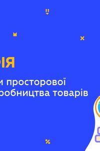 Онлайн урок 11 класс География. Современные формы пространственной организации производства товаров/услуг в Украине (Нед.9:ВТ)