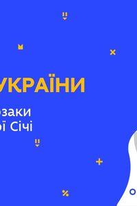 Онлайн урок 8 класс История Украины. Запорожские казаки в период Новой Сечи (Нед.9:ВТ)