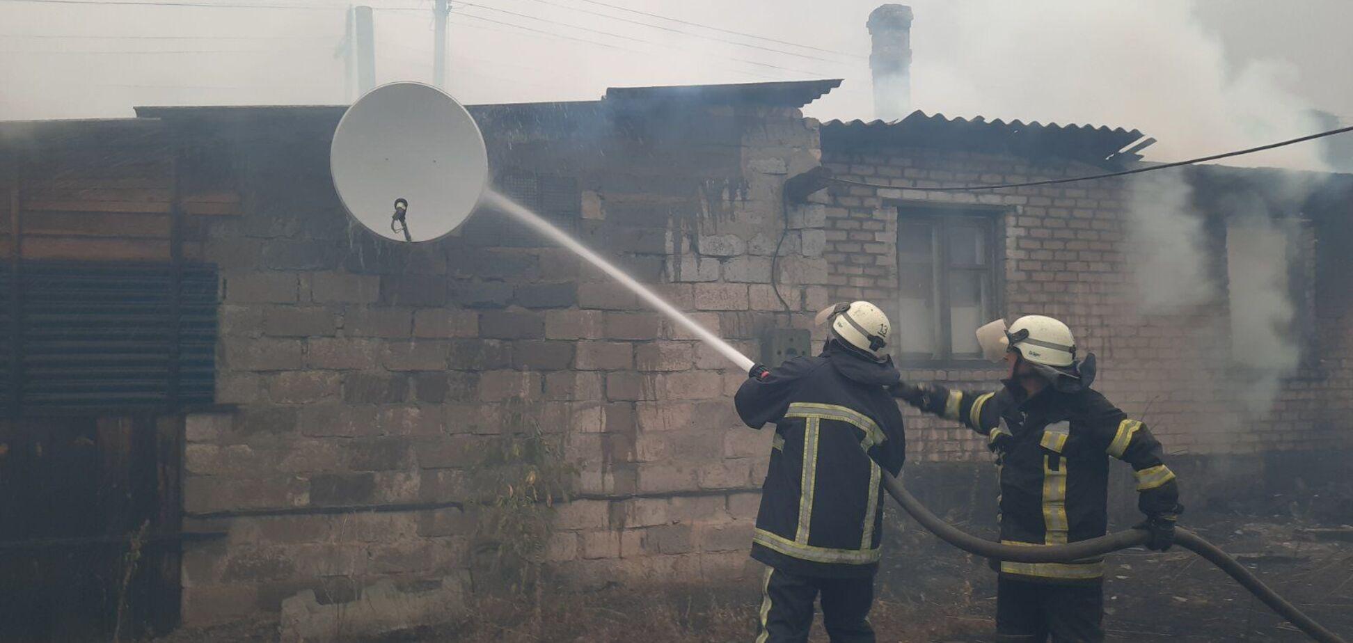 На Луганщине огонь добрался линии разграничения