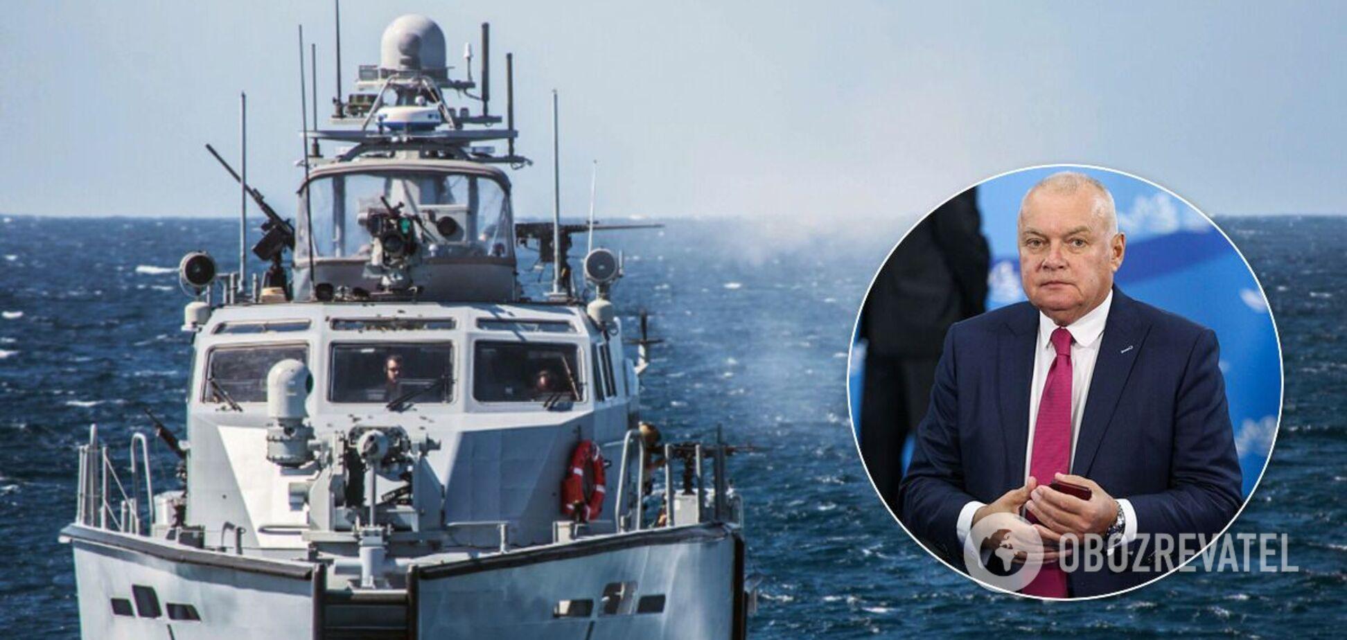 Киселев заявил о строительстве военно-морской базы в Северодонецке, который не имеет выхода к морю