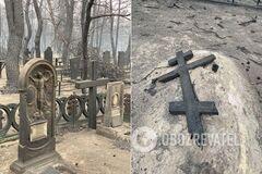 Последствия пожара в Луганской области