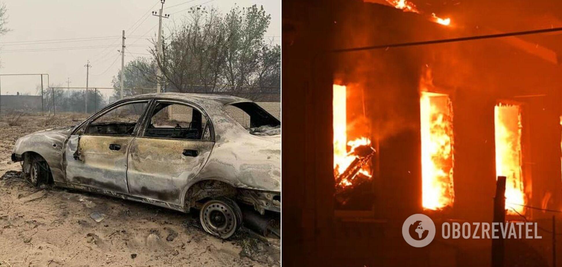Последствия пожаров в Луганской области
