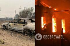 Наслідки пожеж у Луганській області