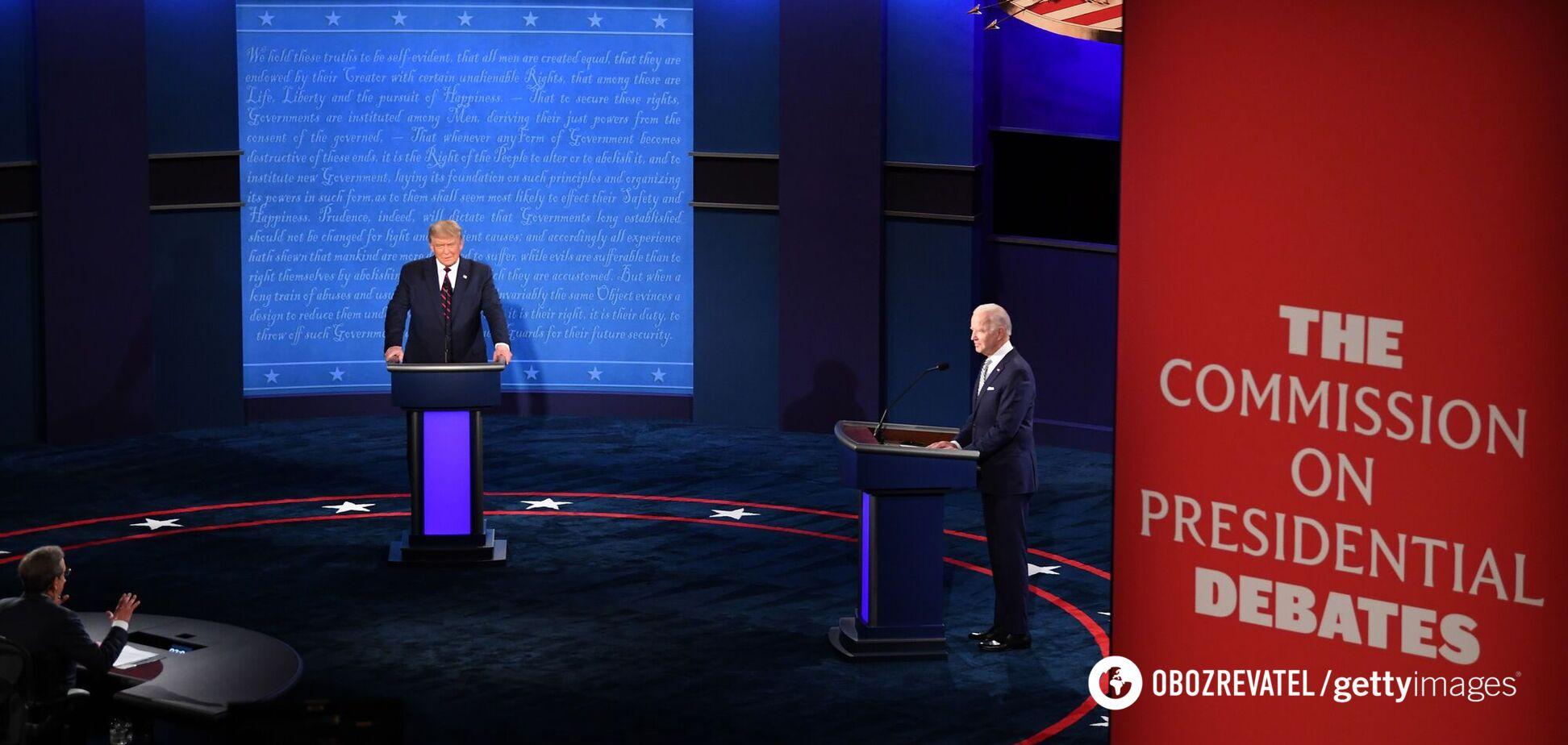 У США скасували призначені на 15 жовтня дебати Трампа і Байдена