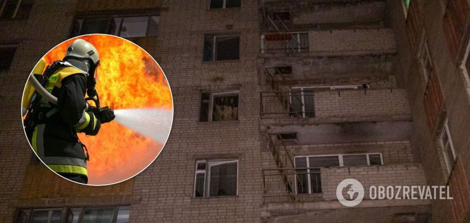В Днепре произошел пожар в студенческом общежитии. Фото и видео