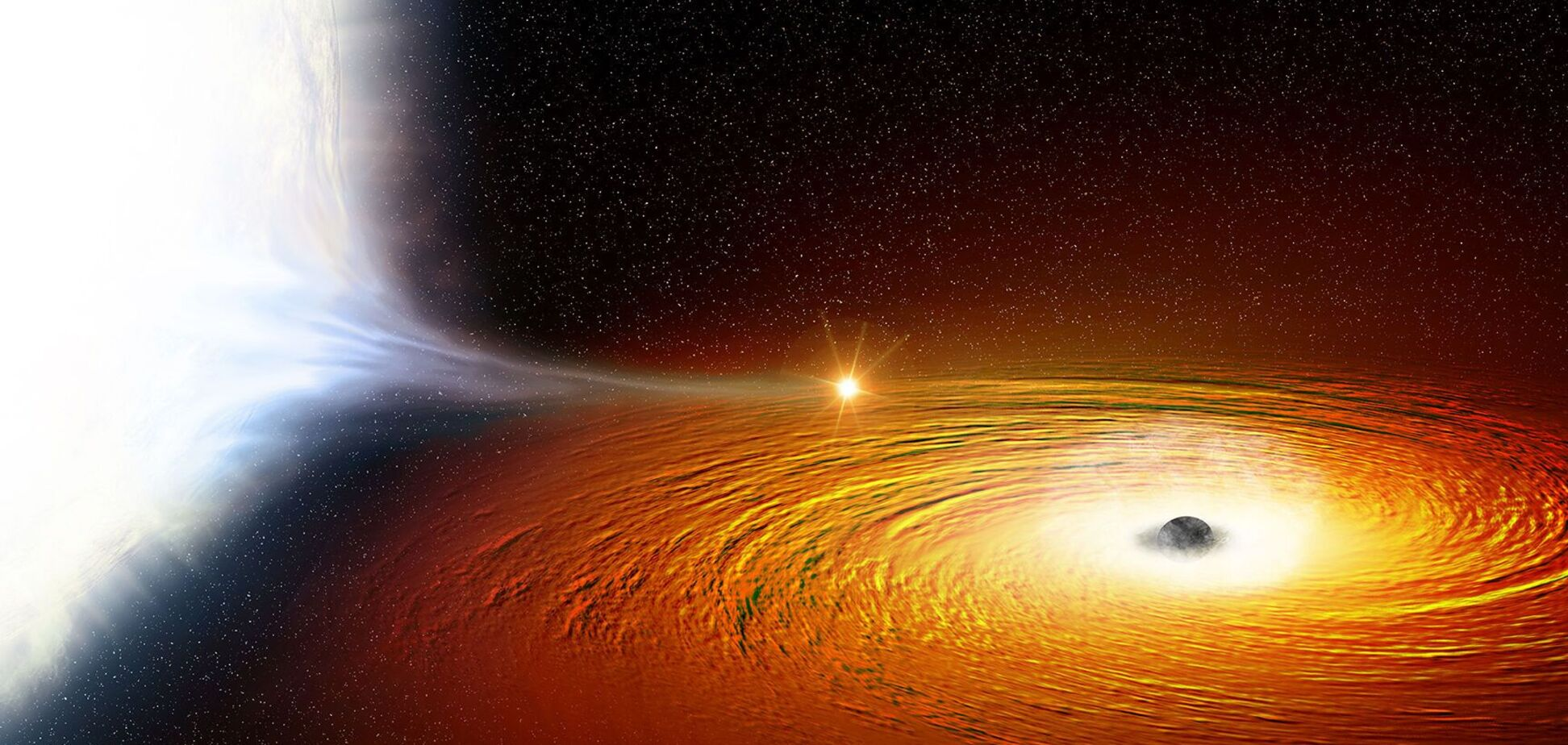 Черная дыра поглотила звезду