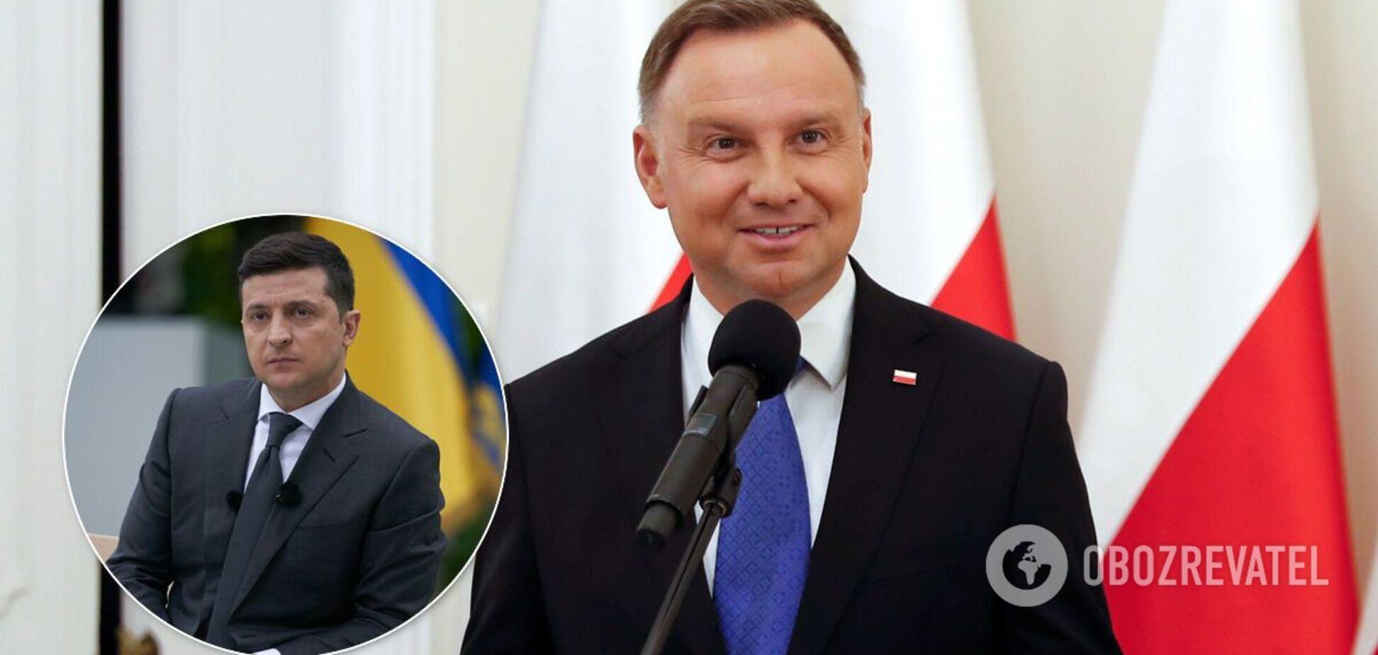 Зеленский встретился с президентом Польши Дудой