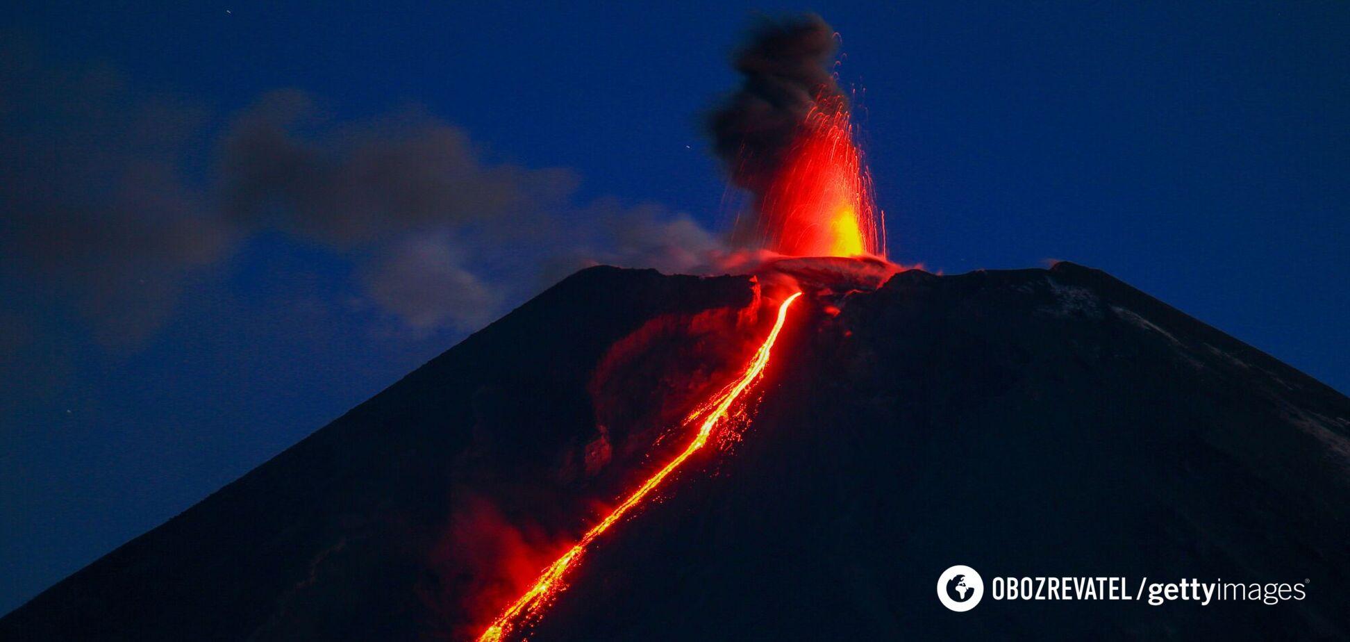 Ключевской вулкан на Камчатке
