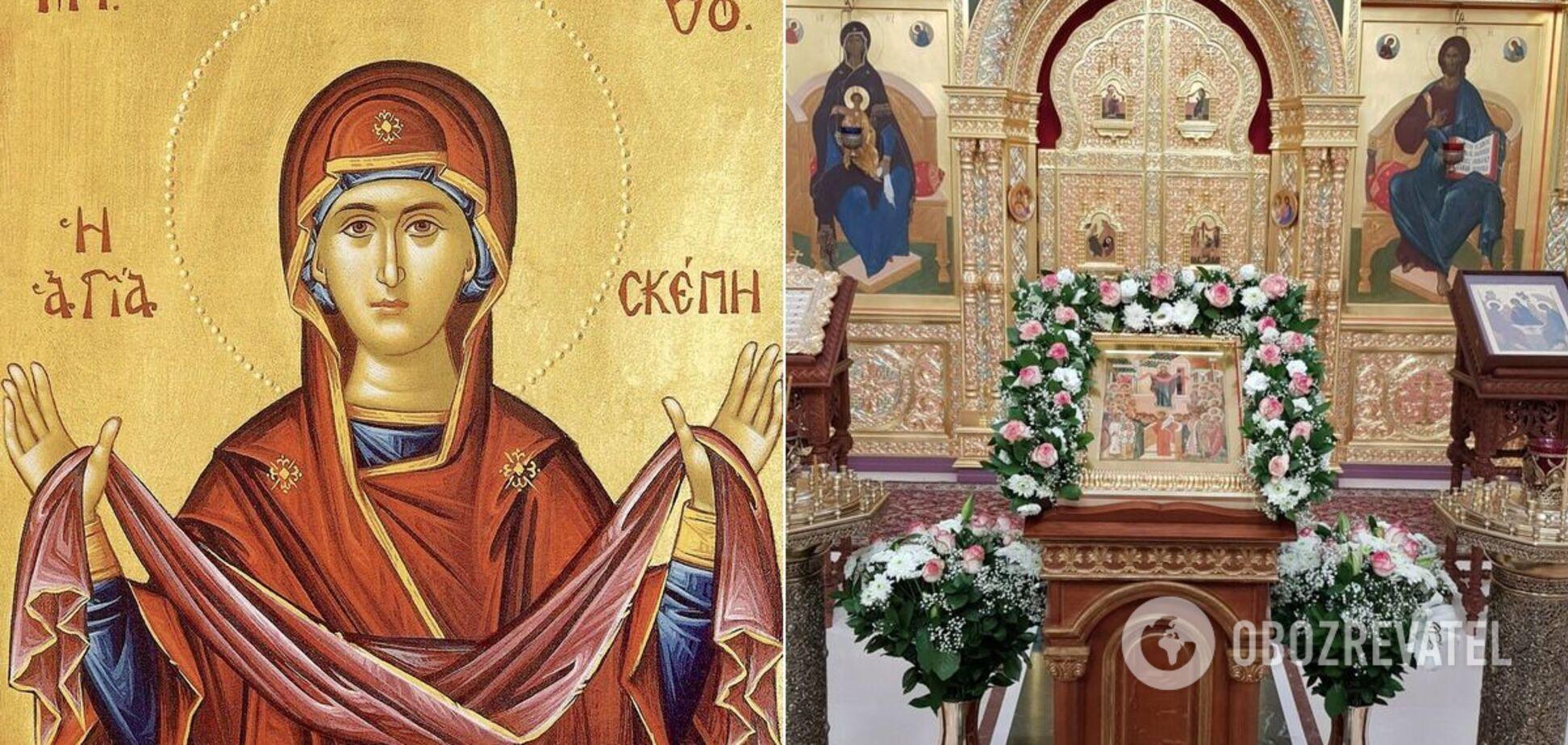 Покров Пресвятой Богородицы празднуют 14 октября