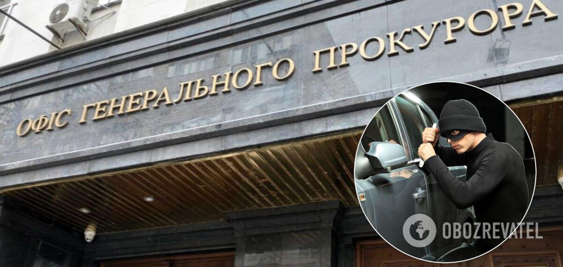 В Киеве угнали служебное авто прокурора ОГП