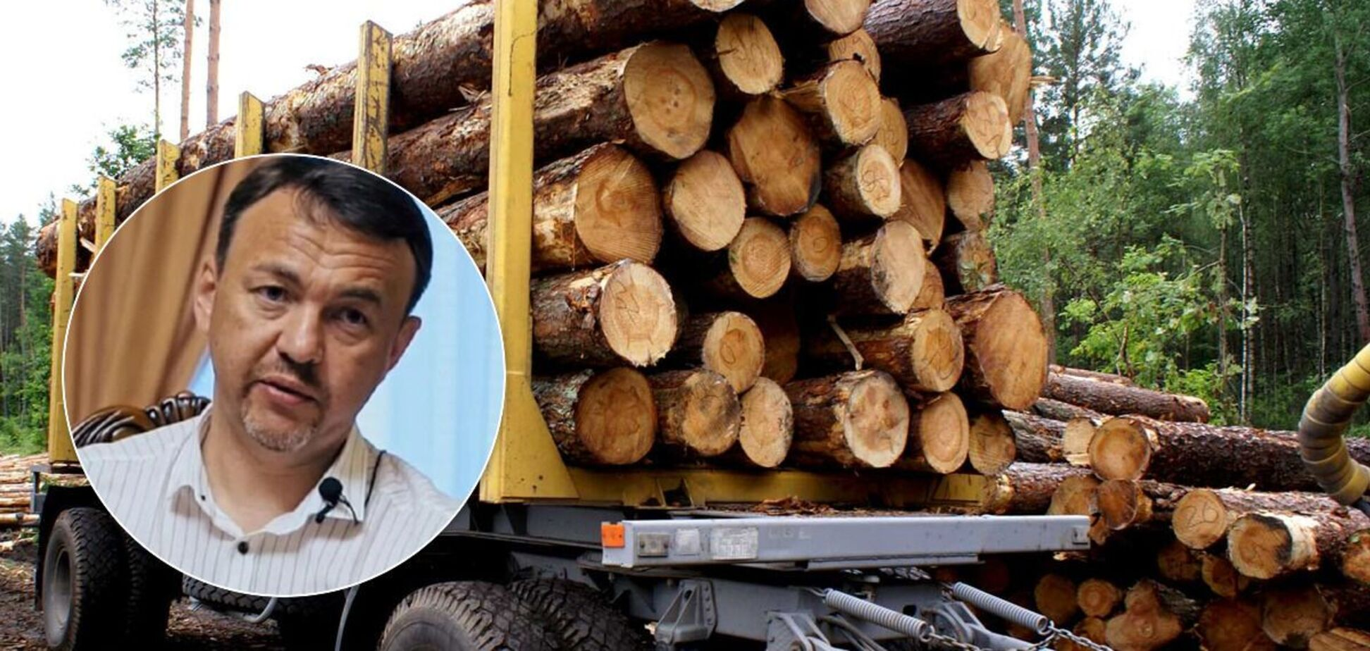 На Закарпатті під час промови Петрова вивозили ліс