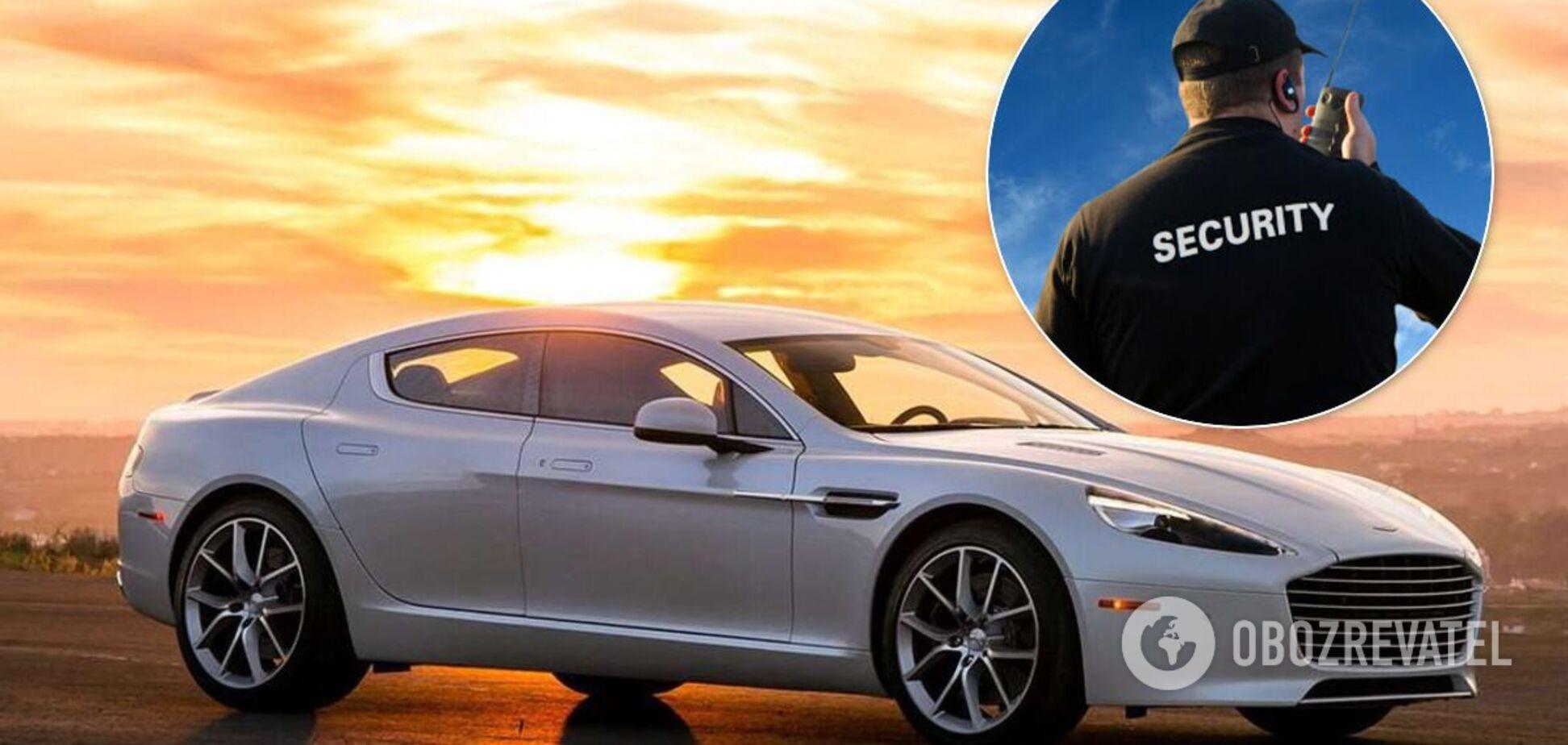 В Україні зняли незвичайне авто служби охорони – Aston Martin Rapide