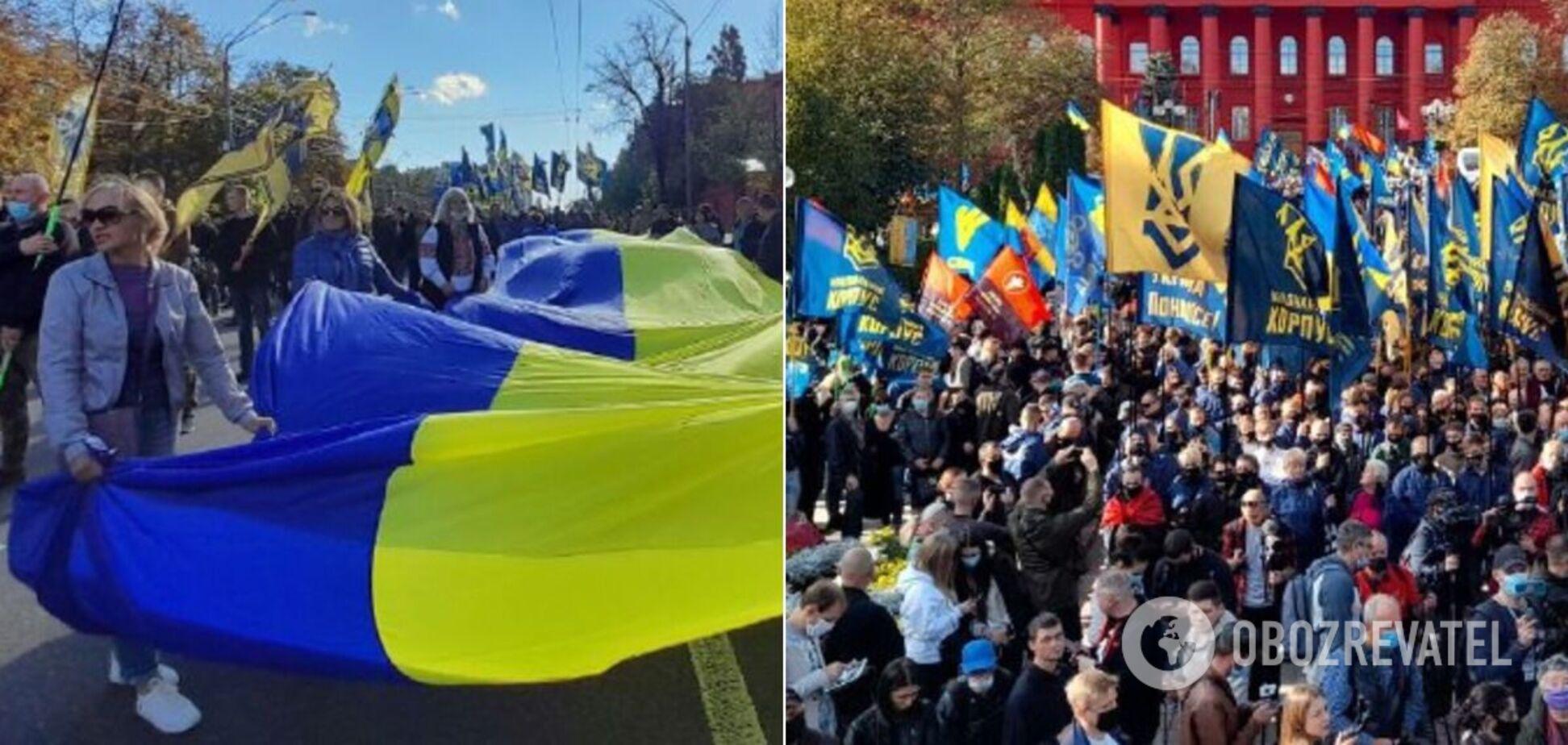 Данина пам'яті полеглим і масові ходи: як країна відзначила День захисника України. Всі фото і відео