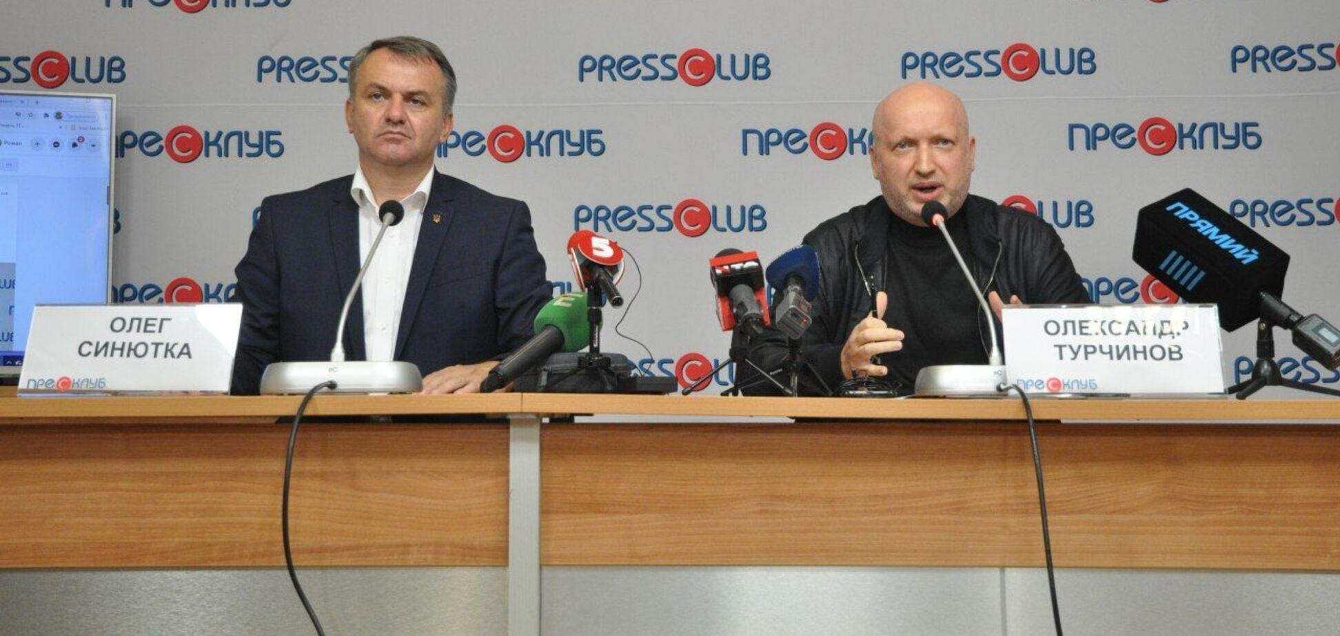 Украине нужны такие лидеры: Турчинов призвал львовян проголосовать за Олега Синютку