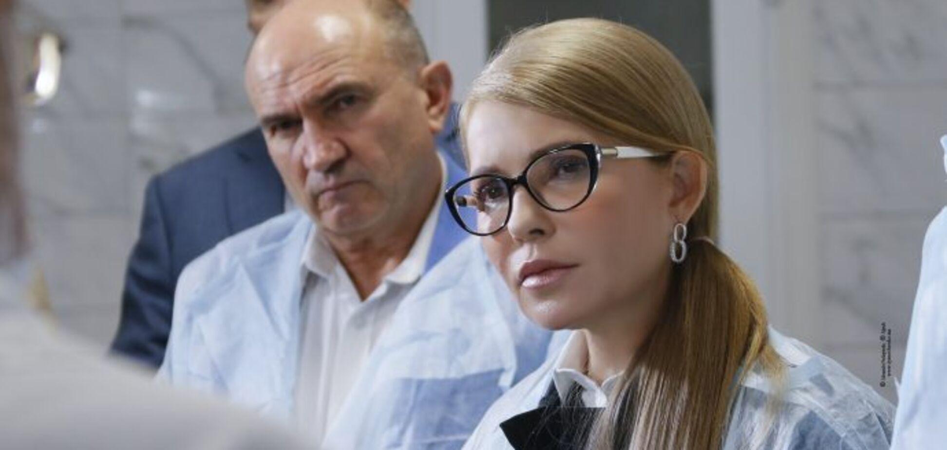 Юлия Тимошенко во время встречи с работниками и руководством реабилитационного центра в Полтаве