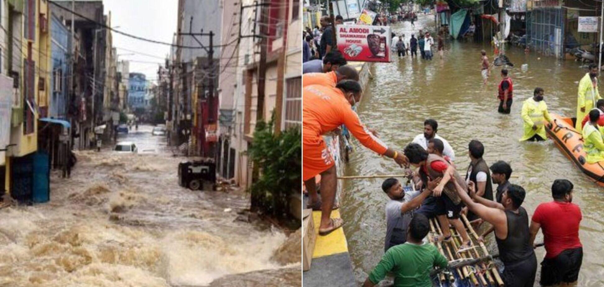 Унаслідок повеней в Індії загинуло 60 людей