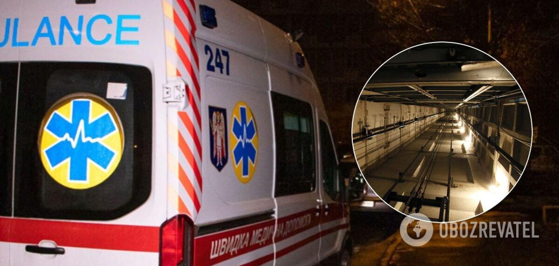У Києві обірвався ліфт із медиками