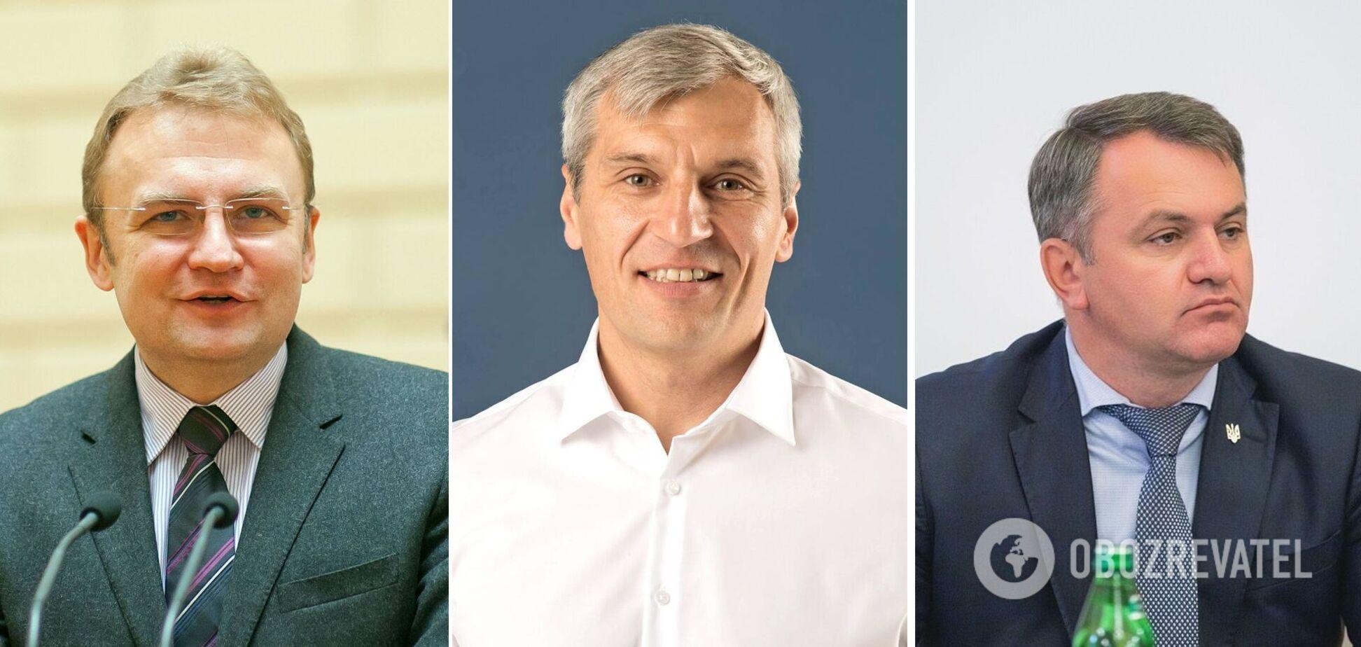Главная тройка конкурентов в борьбе за пост мэра Львова– Андрей Садовый, Руслан Кошулинский и Олег Синютка