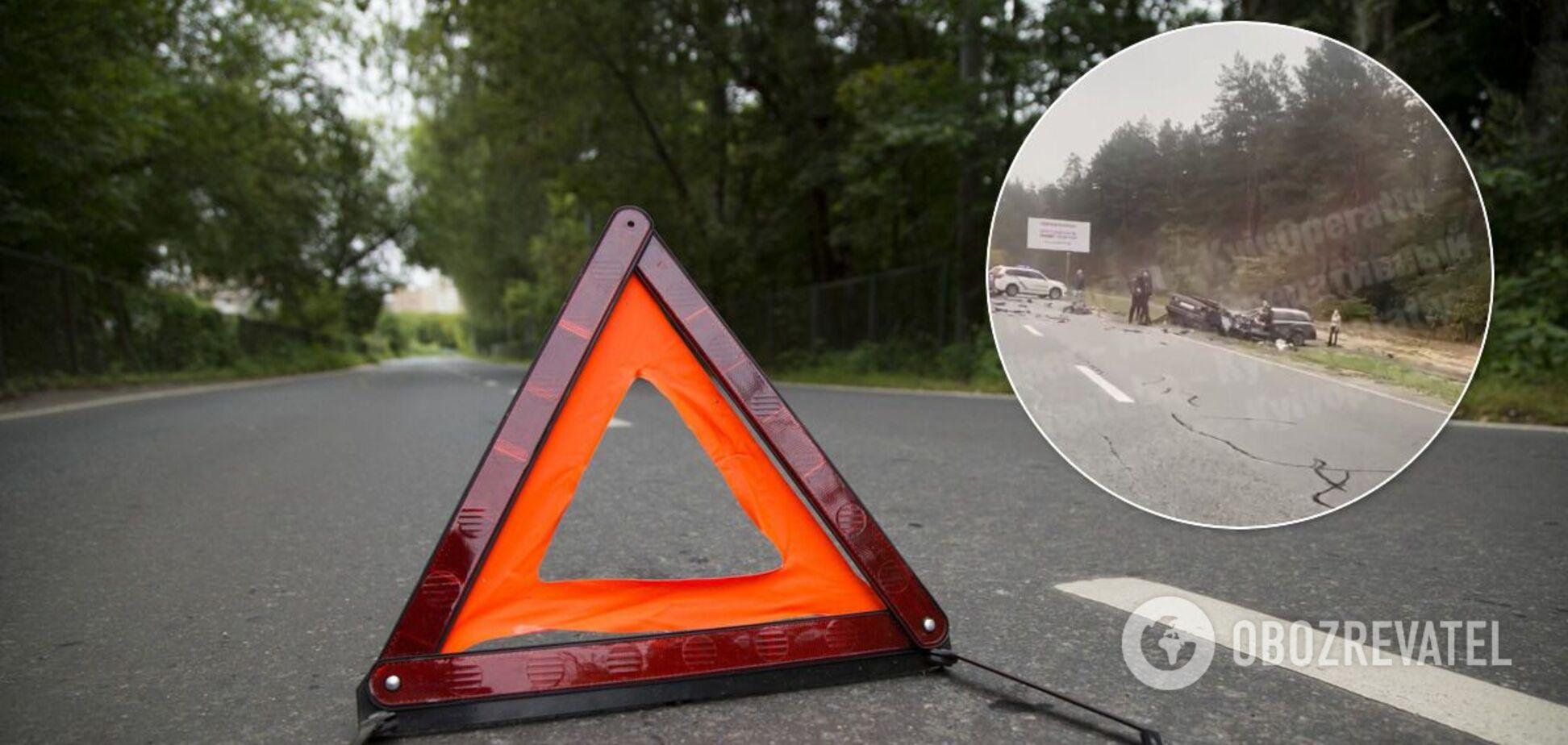 На трассе под Киевом случилась авария