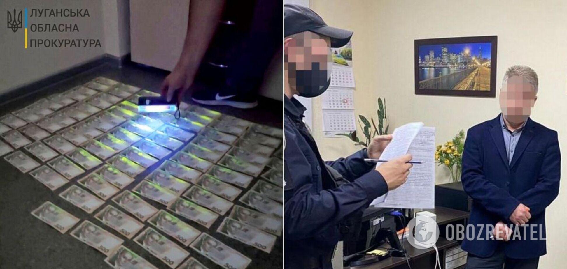 На Луганщині заступника мера спіймали на хабарі
