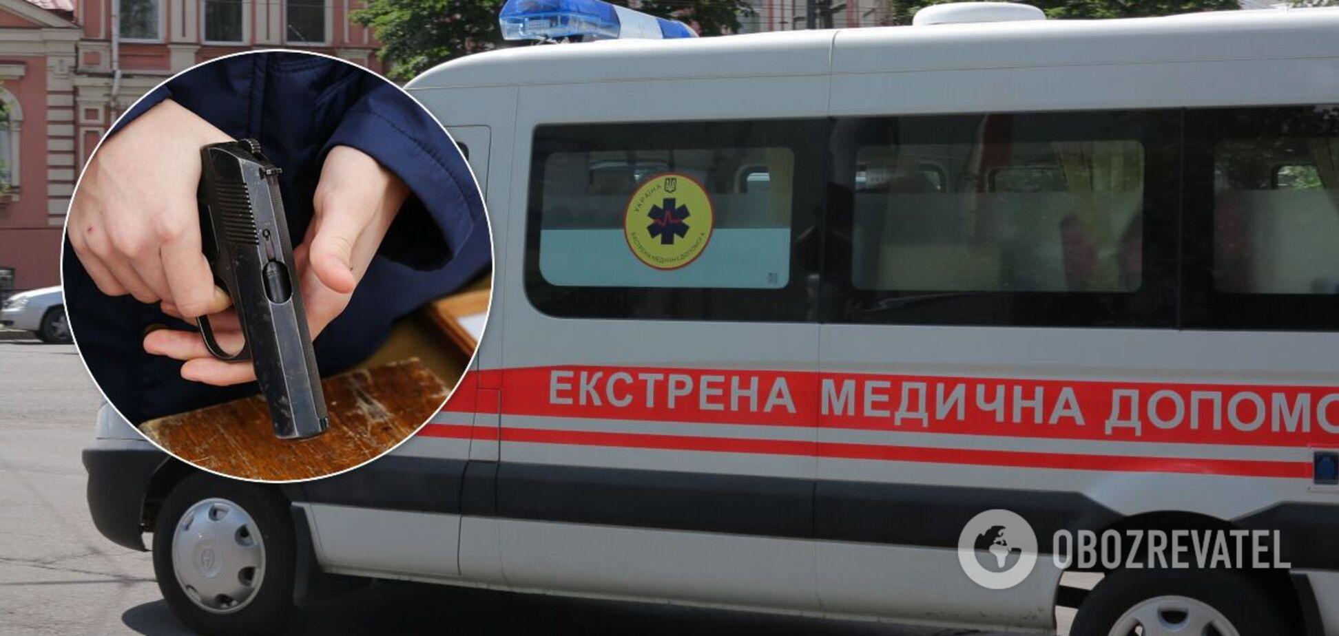 В Николаеве муж выстрелил жене в голову. Видео