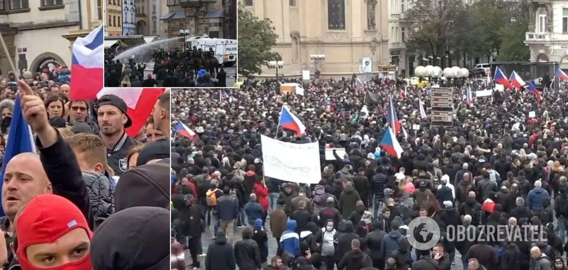 Протесты против карантина в Чехии