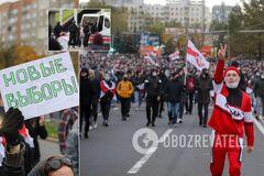 Білорусь вийшла на 'Партизанський марш': силовики стріляли гумовими кулями, більше сотні затриманих