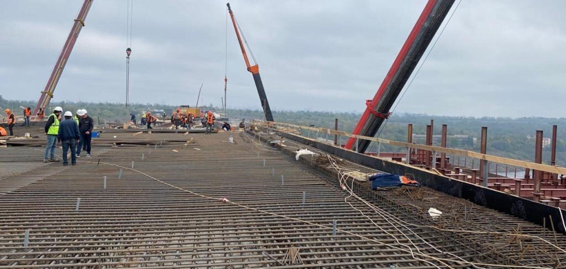 В Запорожье продолжается строительство мостов в рамках 'Большого строительства'