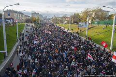 Невероятный Партизанский марш в Минске