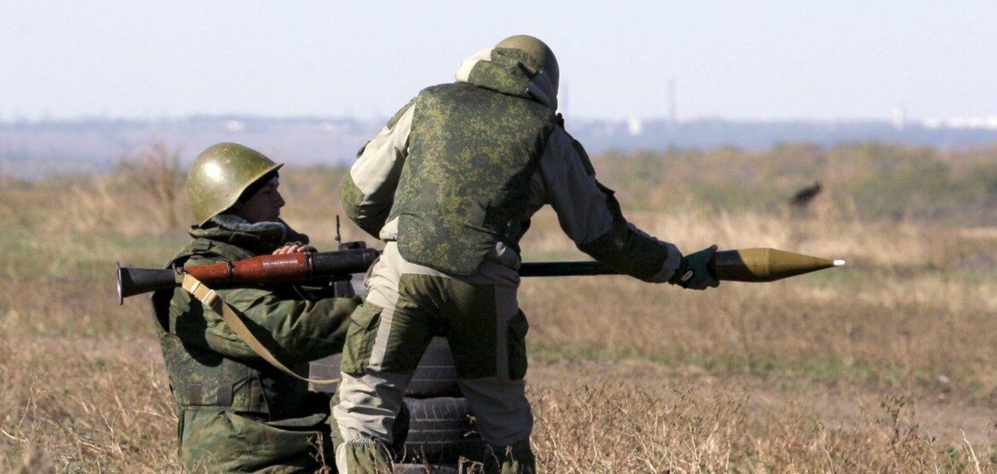 Террористы открыли огонь из РПГ на Донбассе