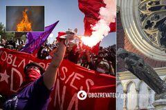 В Чили сожгли две церкви в годовщину протестов