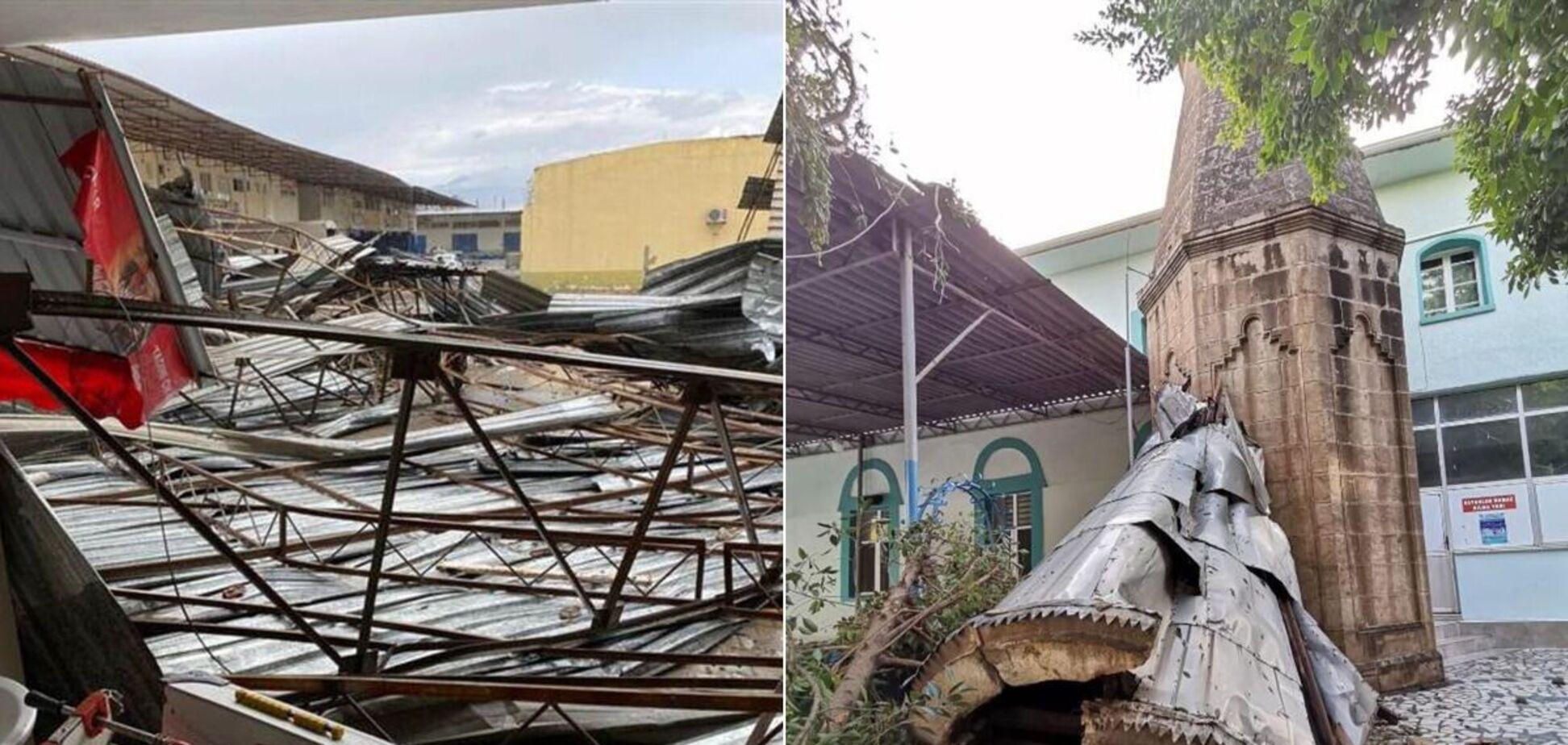 Наслідки урагану в турецькій Антальї