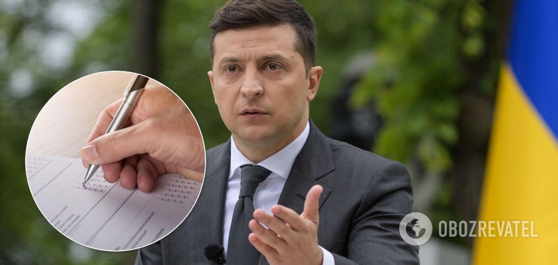 Зеленский может заплатить за опрос в день выборов из своего кармана