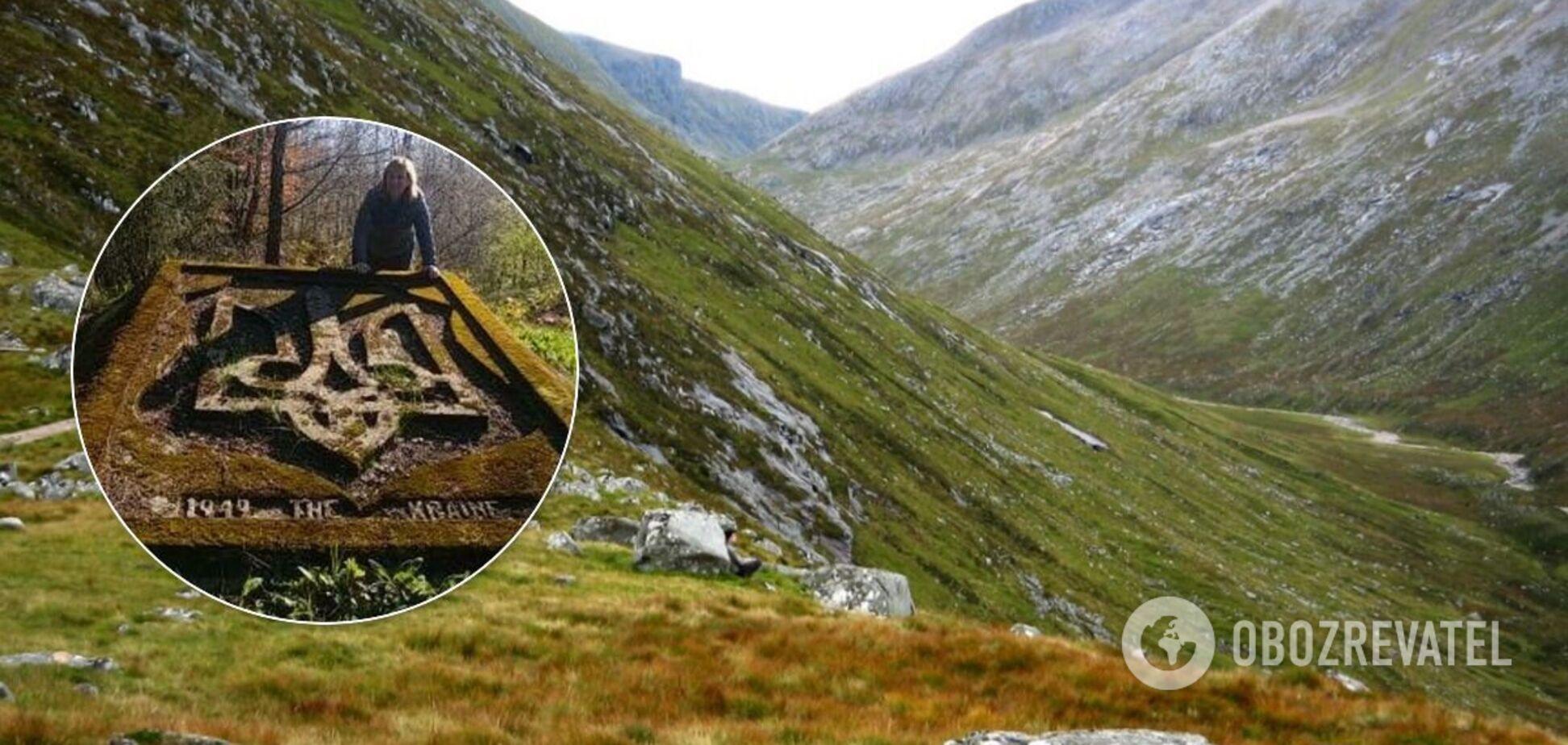 Герб Украины обнаружили в горах Шотландии