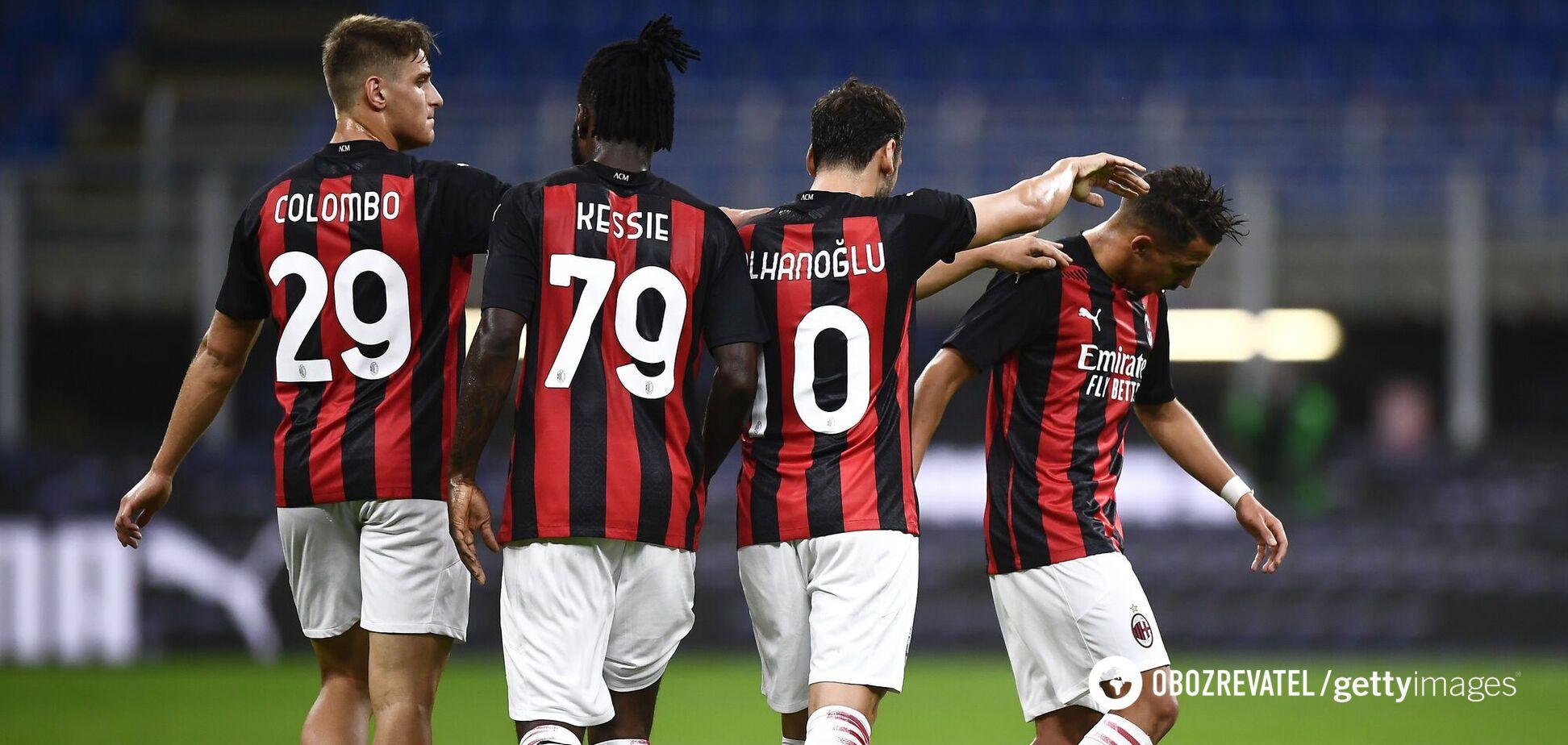 'Милан' празднует гол