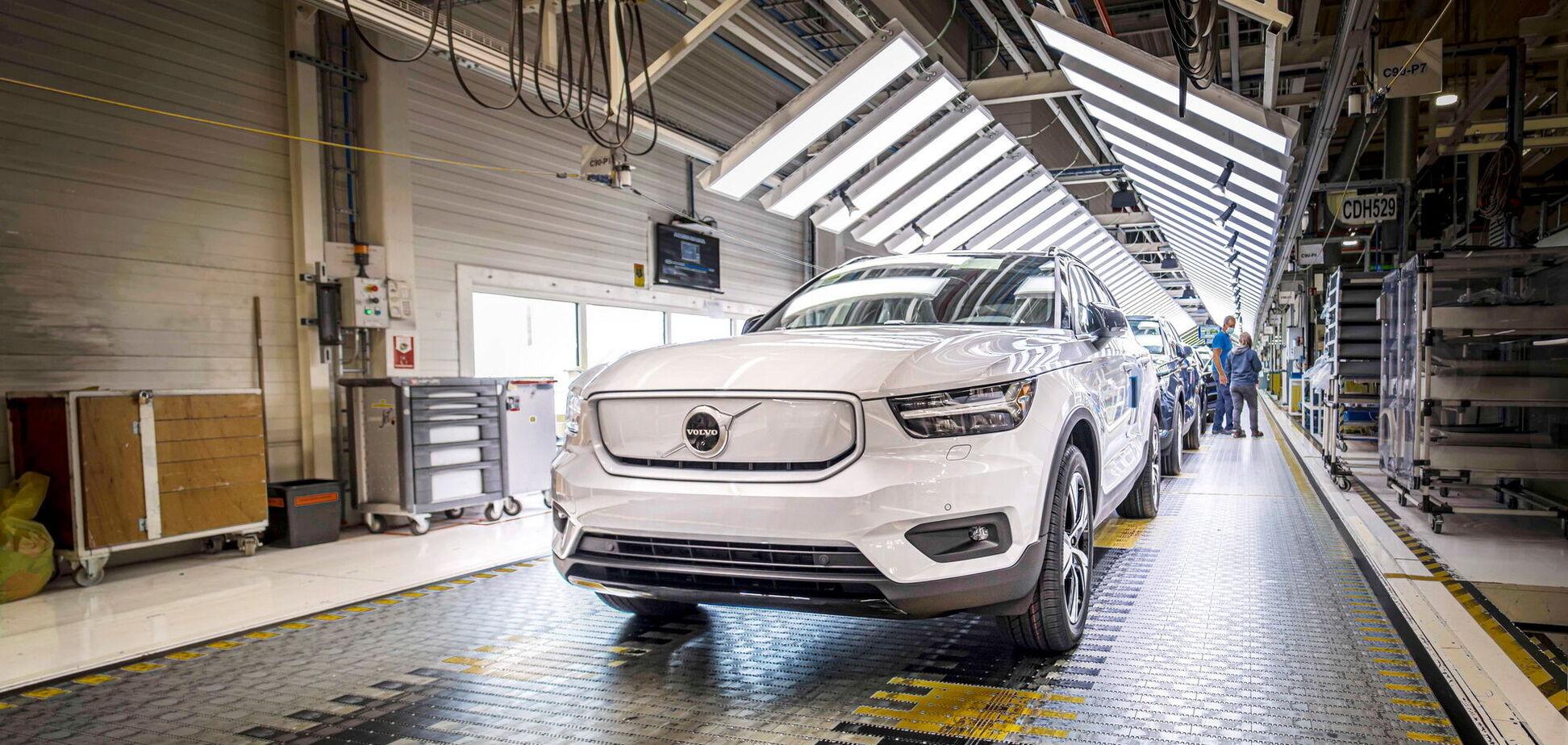 Volvo запустив виробництво першого електромобіля марки