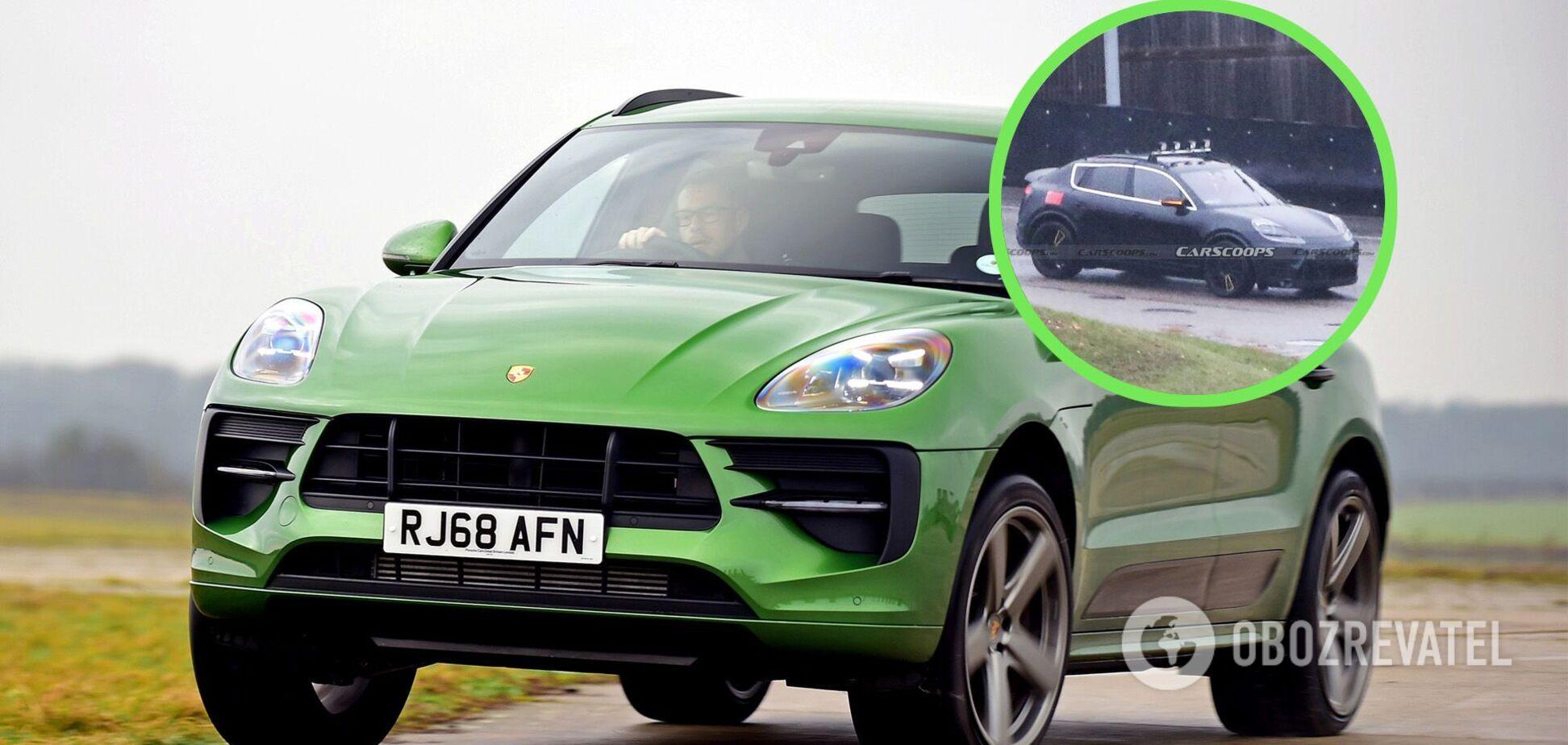 Электрический Porsche Macan впервые заметили на тестах
