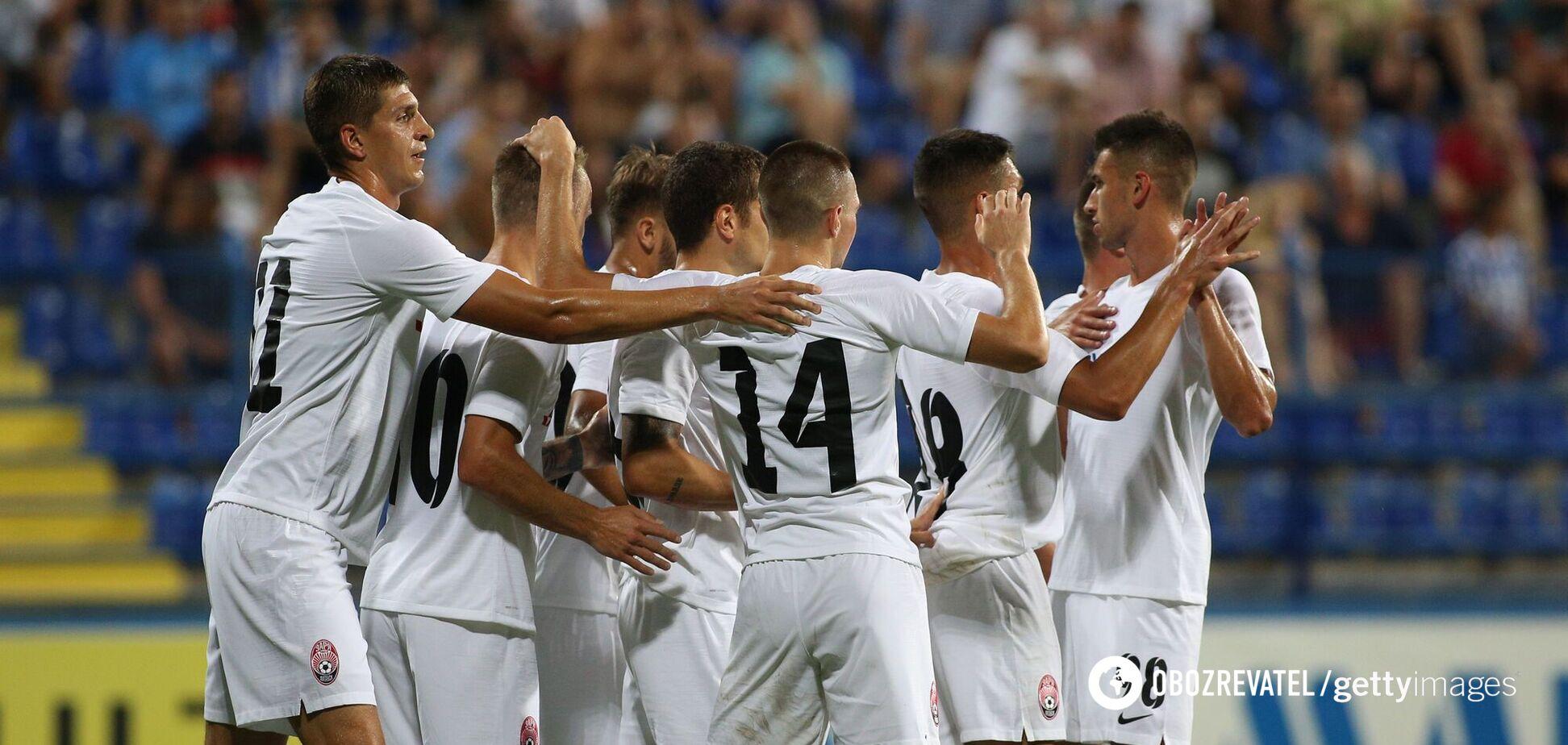 Футболісти 'Зорі' святкують гол