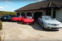 80-річний дідусь показав свою колекцію Ferrari: він доcі на ній їздить